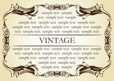 Ornamento velho do vintage novo do frame Imagens de Stock Royalty Free