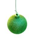 Ornamento verde da árvore de Natal Foto de Stock Royalty Free