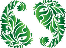Ornamento verde de India ilustração stock