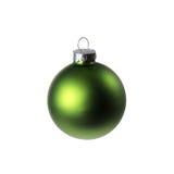 Ornamento verde di natale Fotografie Stock