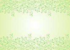 Ornamento verde e bianco Fotografie Stock Libere da Diritti
