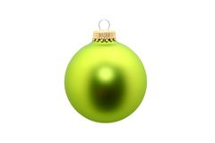Ornamento verde isolado Fotografia de Stock