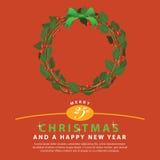 Ornamento verde rojo del ramo de la guirnalda para la Navidad event02 Imagenes de archivo