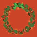 Ornamento verde rojo del ramo de la guirnalda para la Navidad event05 Fotos de archivo libres de regalías