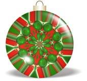 Ornamento verde rosso di natale di disegno Fotografie Stock