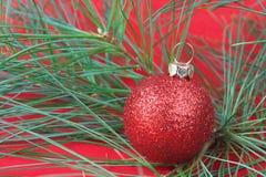 Ornamento vermelho do feriado imagens de stock