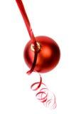 Ornamento vermelho do Natal foto de stock