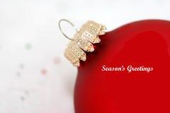 Ornamento vermelho do Natal com   Imagens de Stock Royalty Free
