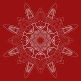 Ornamento vermelho e branco radial Fotografia de Stock Royalty Free