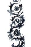 Ornamento verniciato in acquerello Immagine Stock