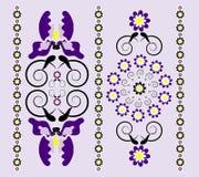 Ornamento vertical com íris Imagem de Stock Royalty Free