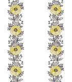 Ornamento vertical 2 del crisantemo Fotos de archivo libres de regalías