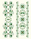 Ornamento verticale con il fiore Immagini Stock