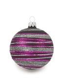 Ornamento violeta do Natal fotos de stock royalty free