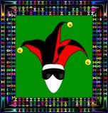 Ornamento y bufón abstractos de la máscara Imagen de archivo libre de regalías
