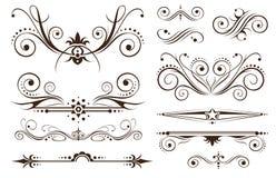 Ornamento y decoración para los diseños clásicos Foto de archivo libre de regalías