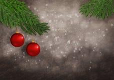 Ornamento y estrellas de la Navidad Foto de archivo
