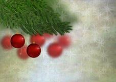 Ornamento y estrellas rojos de la Navidad Imagen de archivo libre de regalías