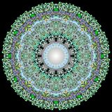 Ornamento Yogyakarta do Batik do círculo Fotos de Stock