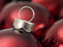 Ornamentos 2 de la Navidad Fotografía de archivo