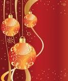 Ornamentos adornados rojos Imágenes de archivo libres de regalías