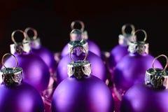 Ornamentos aislados de la Navidad Fotografía de archivo