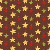 Ornamentos amarillos de la estrella de la Navidad stock de ilustración