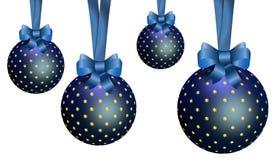 Ornamentos azules de la Navidad. Imagen de archivo
