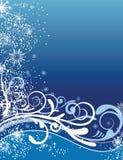 Ornamentos azules del fondo de la Navidad Foto de archivo