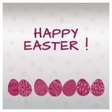 Ornamentos blancos de los huevos de Pascua Ilustración del vector libre illustration