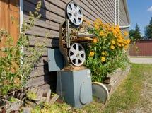 Ornamentos caprichosos del jardín en una granja de Amish foto de archivo