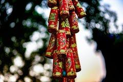 Ornamentos chinos de la ejecución por el Año Nuevo imágenes de archivo libres de regalías