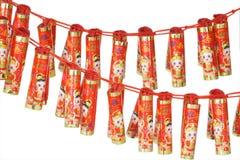 Ornamentos chinos de la galleta del fuego del Año Nuevo Foto de archivo libre de regalías