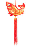 ornamentos chinos de los pescados del Año Nuevo para la decoración Imagen de archivo