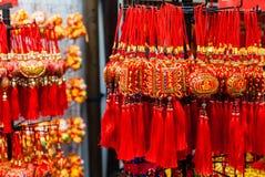 Ornamentos chinos del Año Nuevo en Chinatown Foto de archivo