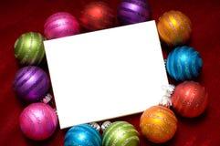 Ornamentos chispeantes de la Navidad Imágenes de archivo libres de regalías