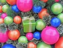 Ornamentos clasificados de la Navidad Imagenes de archivo