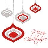 Ornamentos colgantes de la Navidad imagen de archivo libre de regalías
