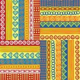 Ornamentos coloreados Foto de archivo libre de regalías