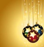 Ornamentos coloridos de la Navidad. ilustración del vector