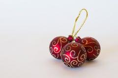 Ornamentos coloridos de la Navidad Imágenes de archivo libres de regalías