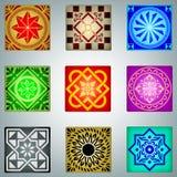 Ornamentos coloridos retros libre illustration