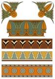 Ornamentos de Asyrian Imagen de archivo libre de regalías