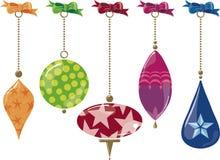 Ornamentos de cristal stock de ilustración