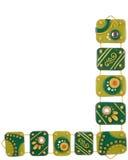 Ornamentos de la arcilla del polímero imagenes de archivo