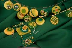Ornamentos de la arcilla del polímero Imágenes de archivo libres de regalías