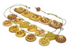 Ornamentos de la arcilla del polímero Imagen de archivo libre de regalías