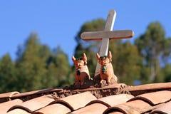 Ornamentos de la azotea de Perú Fotos de archivo