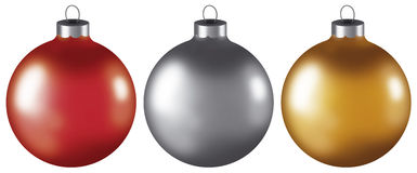 Ornamentos de la bola de la Navidad Fotografía de archivo libre de regalías