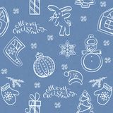 Ornamentos de la chuchería de la Navidad stock de ilustración